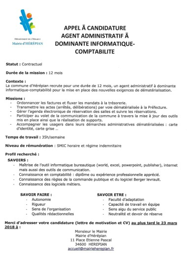 Commune D Herepian Recrutement